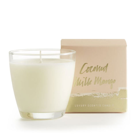 Coconut Milk Demi Boxed Glass Candle!!!