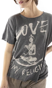 Magnolia Pearl Cotton Jersey Love Religion T