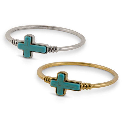 Silver & Gold Cross Bangle Bracelets!!!