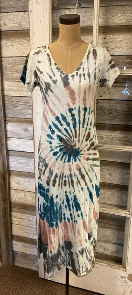 Angela Mara Tie Dye Dress!!! TWO COLOR OPTIONS!!!