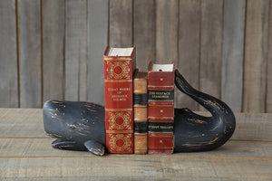 Set of Resin Whale Bookends