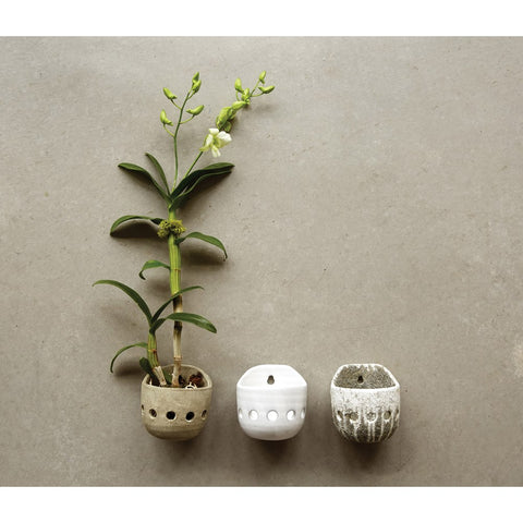 Distressed Terra-cotta Orchid Wall Planter! Three Color Options!