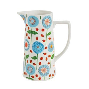 Stonewear Pitcher with floral image