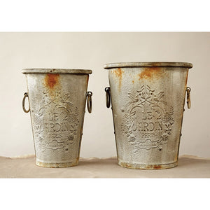 Distress Le Jardin Paris Containers Set Of 2