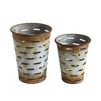 Metal Olive Buckets - Large