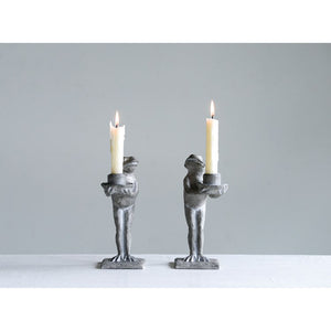 Frog Taper Candle Holders Set of Two