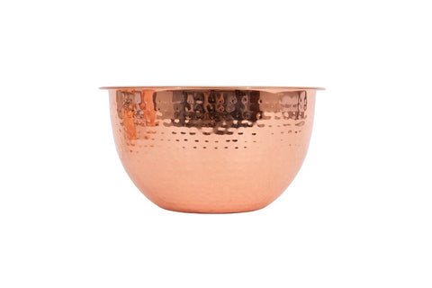 1.5 quart hammered stainless steel copper bowl