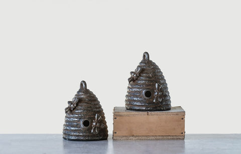 Set of Cast Iron Beehive Bookends