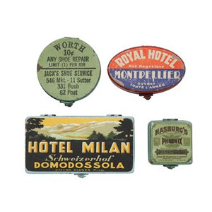Metal Boxes With Reproduction Vintage Labels