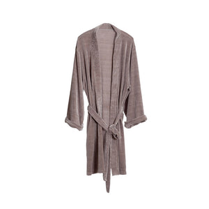 Grey Velour Bathrobe (One Size Fits Most)
