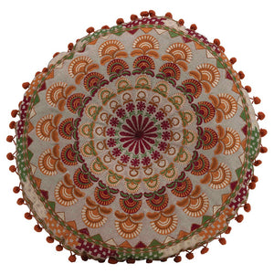 "16"" Round Embroidered Cushion"