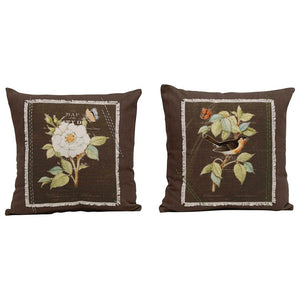 Iron Colored PIllows with Flower Applique 2 Styles