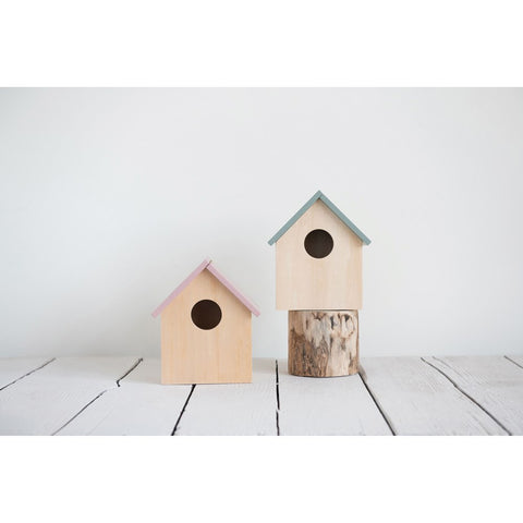 Decorative Wood Storage Birdhouse! TWO Color Options!
