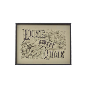 "Metal Framed Wall Decor ""Home Sweet Home"""