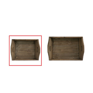 Small Decorative Wood Tray w/ Handles