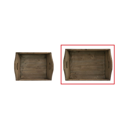 Large Decorative Wood Tray w/ Handles