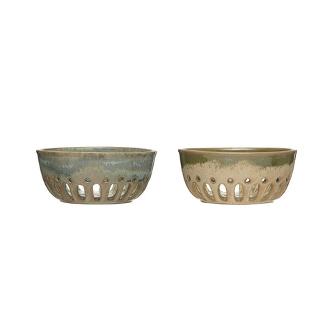 Stoneware Berry Bowl! TWO Color Options! (Each One Will Vary)