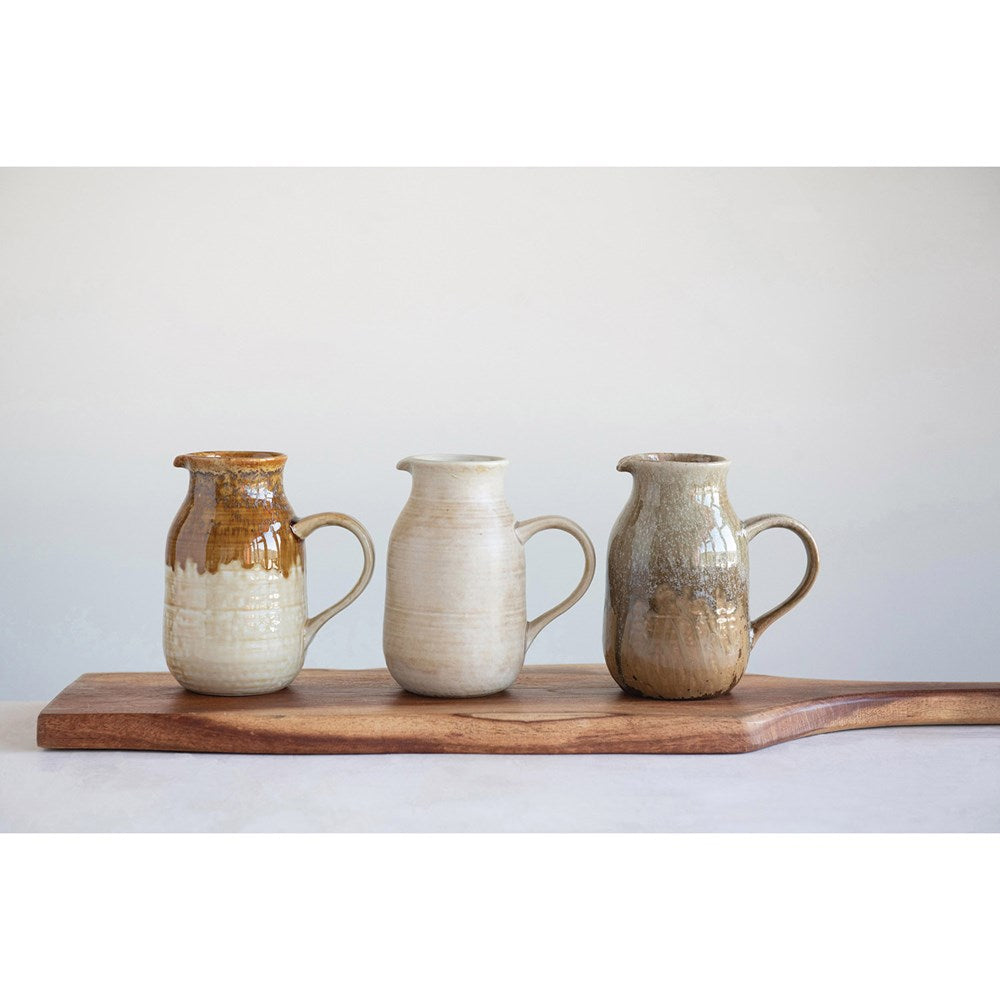 Stoneware Pitcher 3 Color Options
