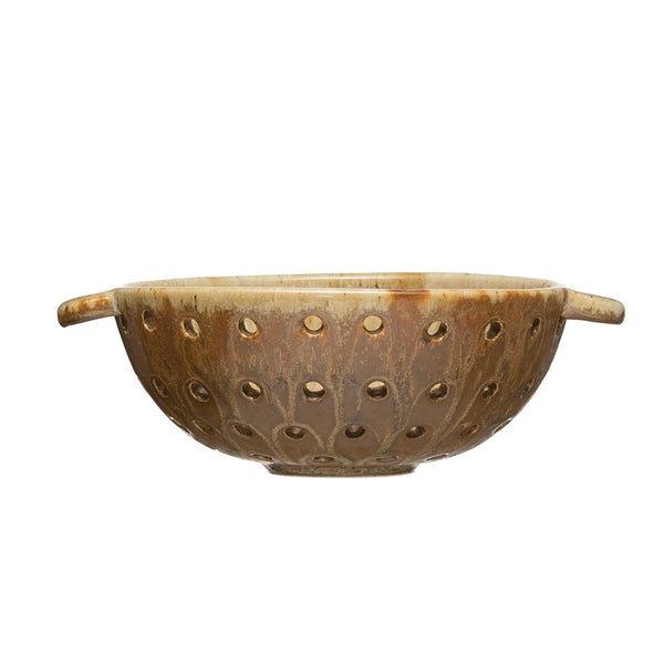 Ginger Colored Stoneware Berry Bowl