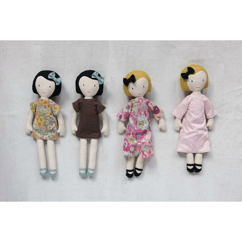 Fabric Doll w/ Reversible Dress! TWO STYLES!