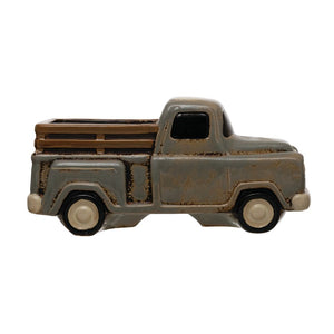 Stoneware Truck Container, Grey