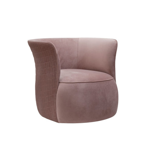 Pink Fabric Upholstered Swivel Chair! PICK UP ONLY!