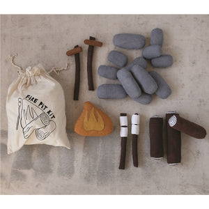 "12""L x 5""W x 15""H Handmade Canvas Fire Pit Kit"