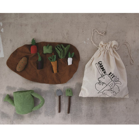 "12""L x 5""W x 15""H Handmade Canvas Garden Kit"