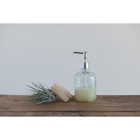 Recycled Glass Soap Bottle with Pump
