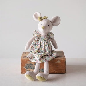 Plush Mouse in Dress