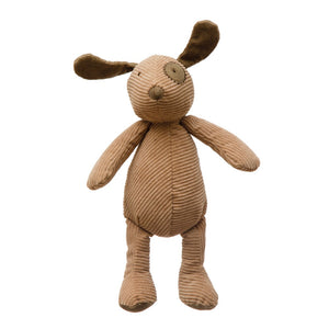 Tan Plush Corduroy Dog