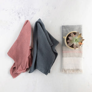 Set of Three Multi Color Cotton Tea Towels