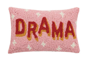 Drama Hooked Wool Pillow