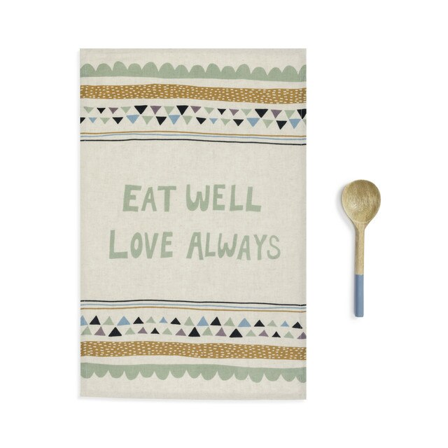 Eat Well Kitchen Towel & Utensil Set