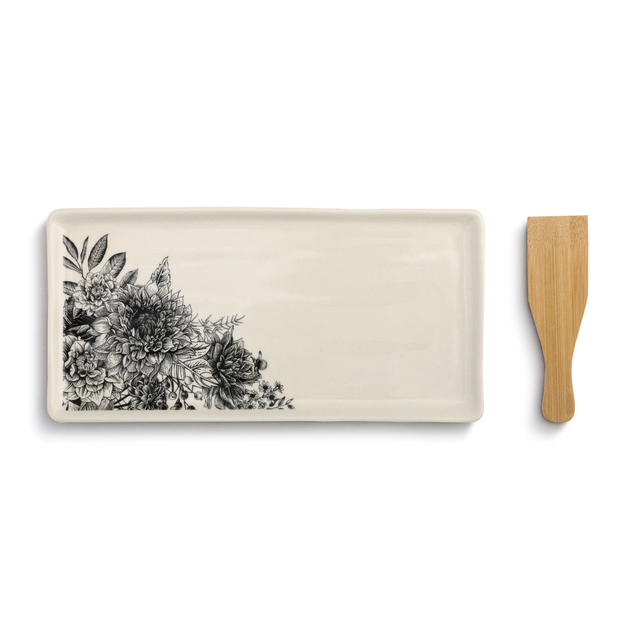 Floral Appetizer Tray with Spatula!!!