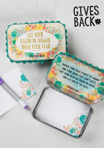 Natural Life Faith Bigger Than Fear Prayer Box