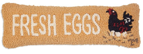 Wool Fresh Eggs Lumbar Pillow