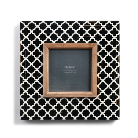 Black & White Geo Frame Wooden Frame!!!
