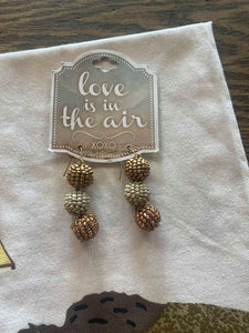 Gold & Cream Beaded Earrings!!!