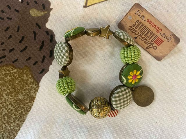 Green Button Bracelet