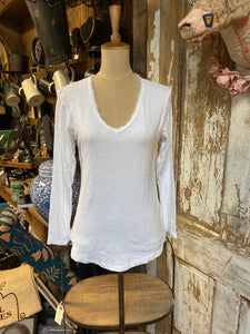 Zenara Cotton Long Sleeve V-neck T-shirt!!! TWO COLORS!!!