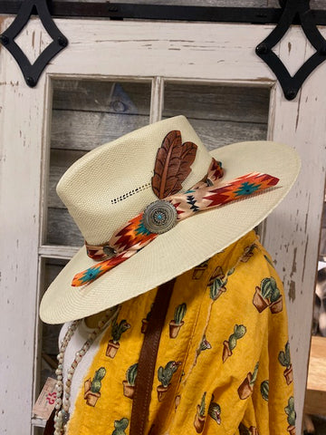 Charlie 1 Horse Hat Co  Navajo Straw Hat