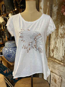Zenara Indian Embroidery T-shirt!!! TWO COLORS!!!