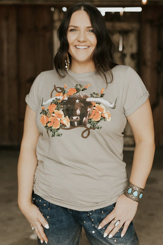 Rodeo Quincy Poppy the Steer Tee