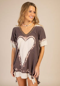 Natural Life One Size Charcoal Tie-Dye Sayulita Cover-Up