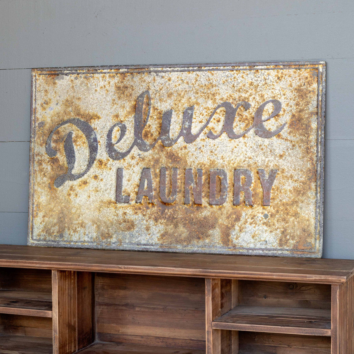 Aged Metal Deluxe Laundry Sign
