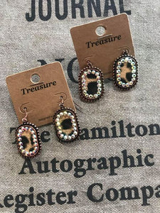 Crystal & Leopard Earrings!!!