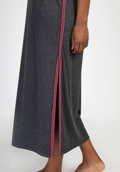 Natural Life Side Trim Tee Maxi Dress