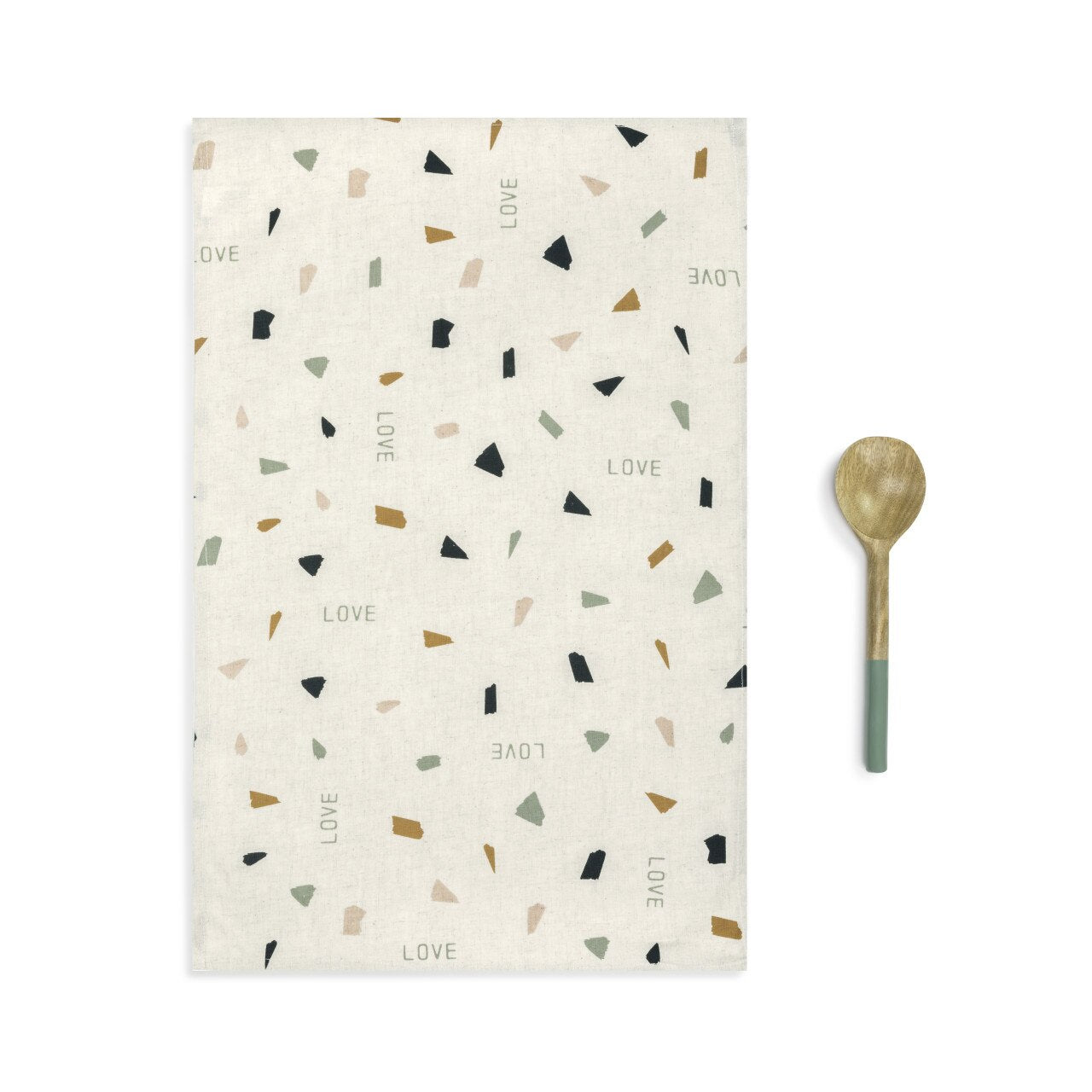 Love Kitchen Towel & Utensil Set