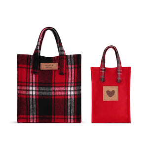 Merry & Bright Plaid Gift Bags - Set of 2 Totes